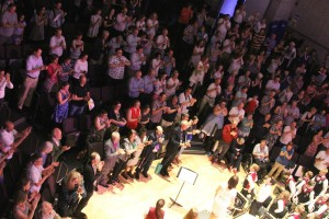 Audience standing ovasion